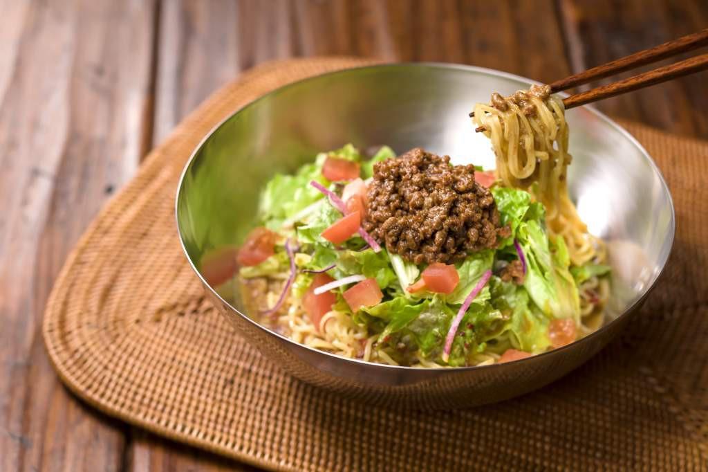 冷やしサラダタンタン麺【糖質0g麺】